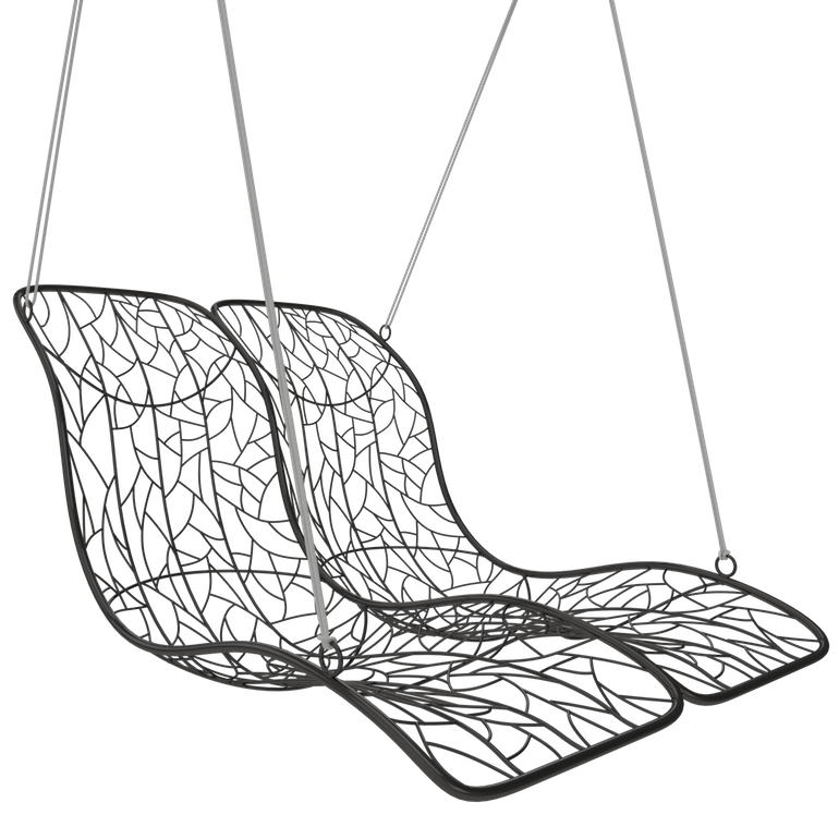 Duo Modern Hanging Swing Recliner - Couture Outdoor