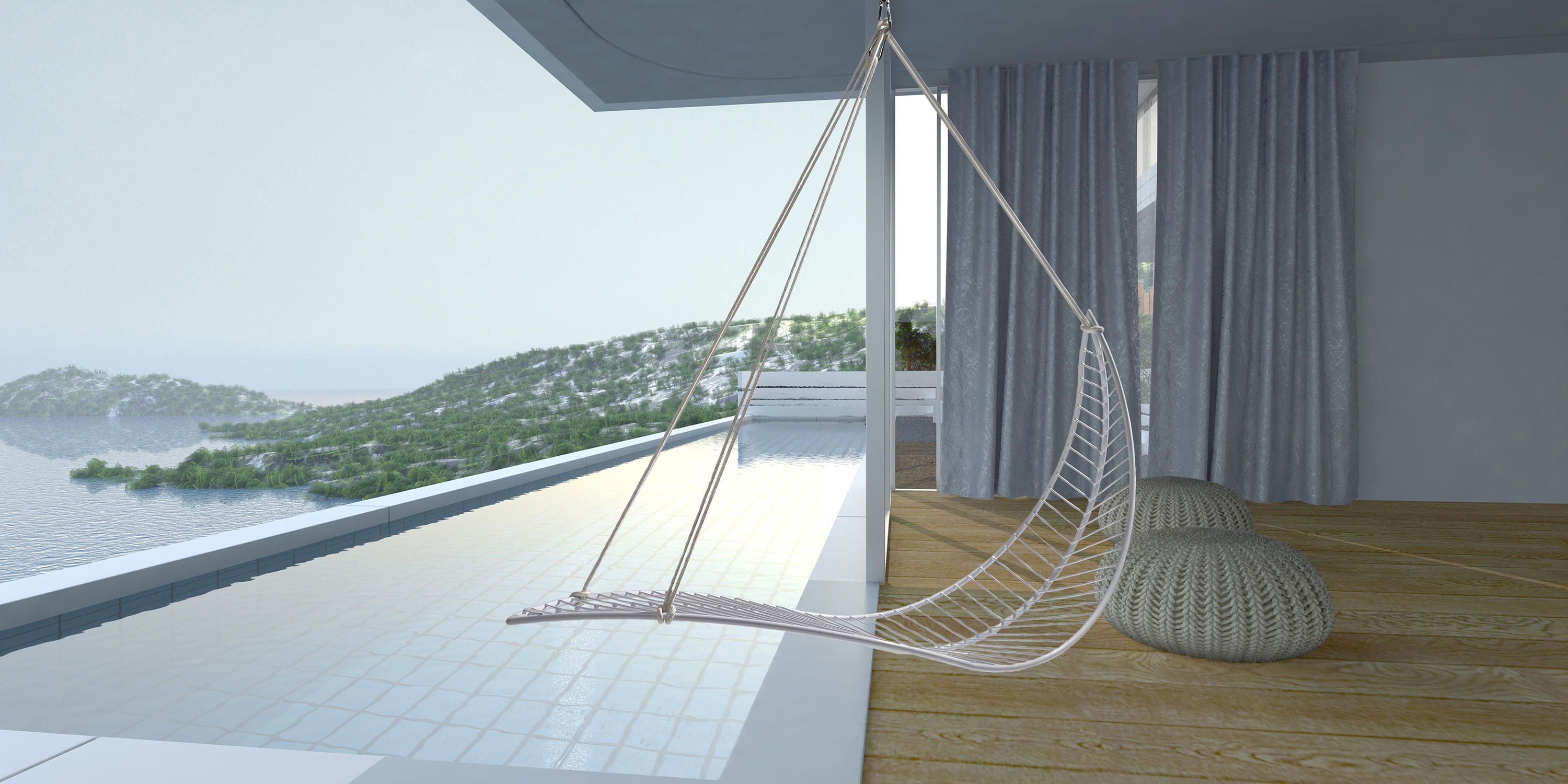 Earth Modern Hanging Swing Chair Couture Outdoor