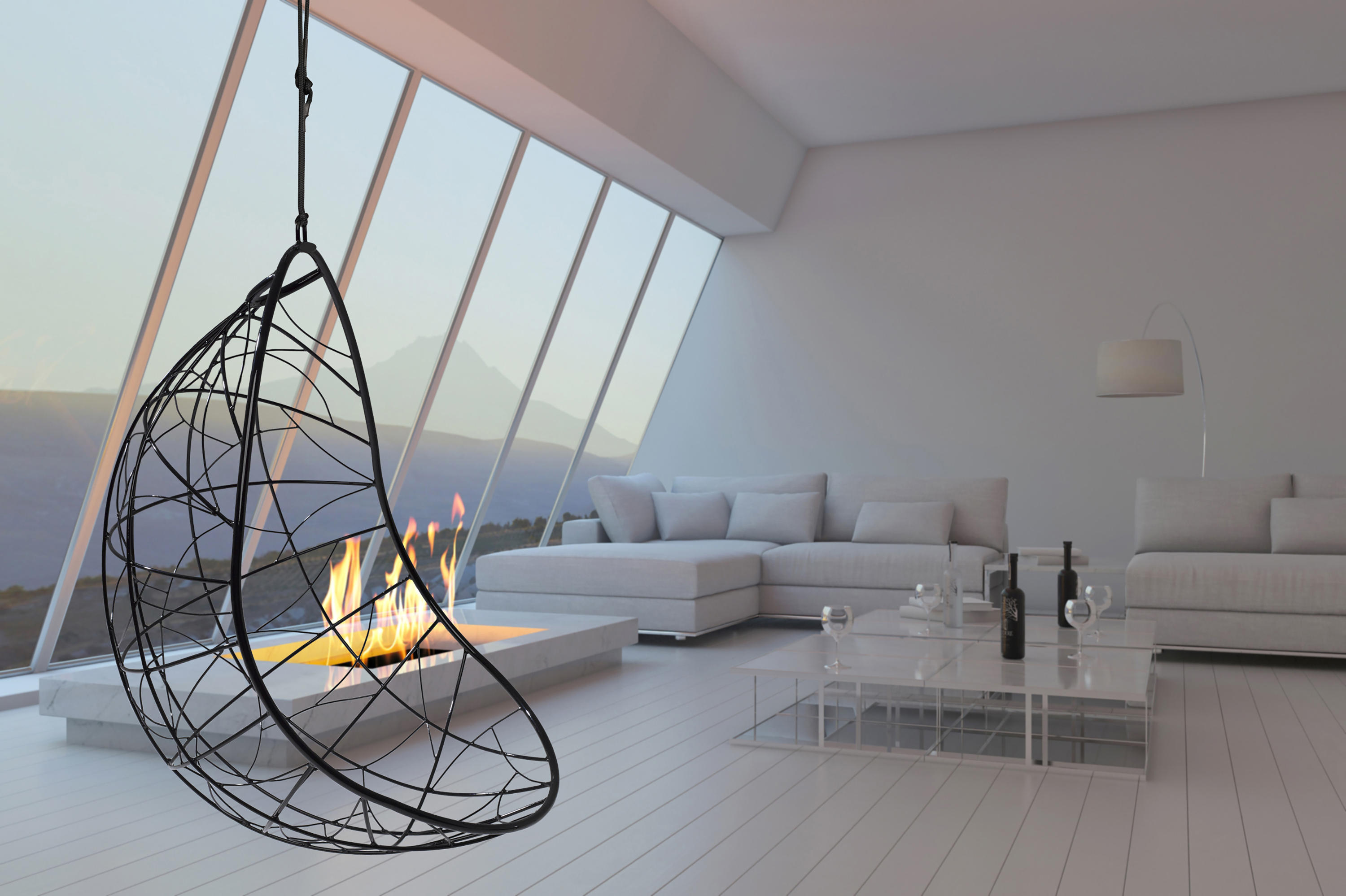 ego modern hanging swing chair