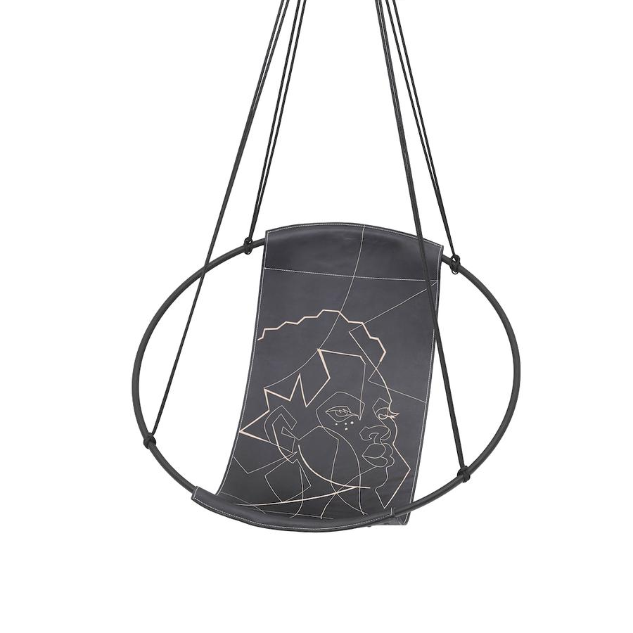Hoop Modern Hanging Swing Chair - Couture Outdoor