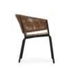 Ake weave dining chair modern contract rope outdoor restaurants hospitality aluminum cord teak furniture