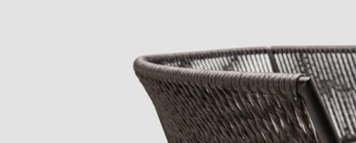 Ake weave dining chair modern contract rope outdoor restaurants hospitality aluminum cord teak furniture details