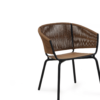 Ake weave dining chair rope luxury restaurants cord outdoor furniture teak seat hotels contract hospitality
