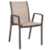 Alec Dining Chair Modern Aliuminum Batyline Stackable Contract Hospitality Restaurant Commercial Garden Patio Outdoor Furniture CA Miami Phoenix Arizona Boston D