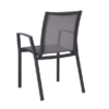 Alec Dining Chair Modern Aliuminum Batyline Stackable Contract Hospitality Restaurant Commercial Garden Patio Outdoor Furniture CA Miami Phoenix Arizona Boston Graphite Mesh Frame