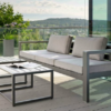 Modern Powder Coated Aluminum Multi Function Outdoor Sofa