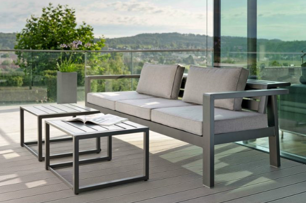 Berlin Multi Function Outdoor 3 Seater Sofa Modern Contract Furniture Stock