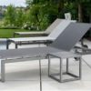 Doser Luxury Modern Batyline Outdoor Chaise Lounger