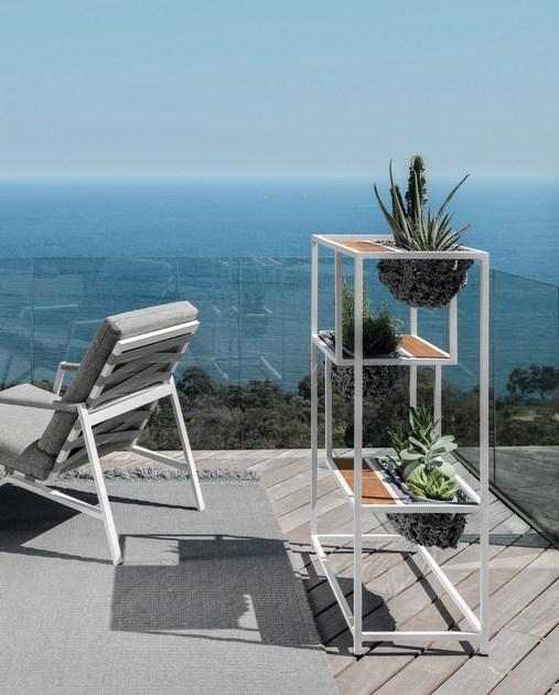 Jessi Planter Rope Teak Aluminum Modern Design Contract Residential Outdoor Furniture