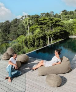 Jessi Rope Outdoor Lounge Pool Ottoman Bean Bag Residential Contract Furniture