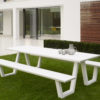 Picnic Dining Table Aluminum Luxury Contract Restaurants Offices Patio Pool Furniture CA