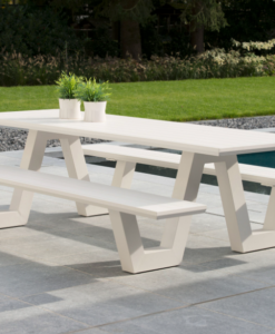 picnic table aluminum hospitality contract hotel restaurant garden