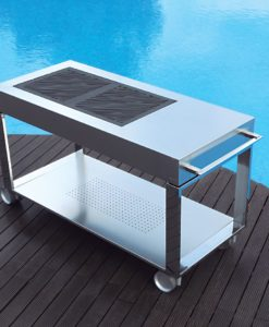 Sleek Anakan 2 BBQ Charcoal Grill Trolley Cart