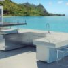 Sleek Altea Granite Gas Custom Grill & Kitchen Island