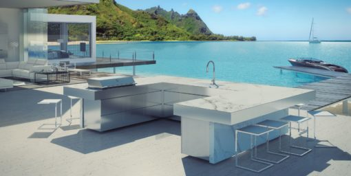 Sleek Altea Granite Gas Custom Grill Amp Kitchen Island