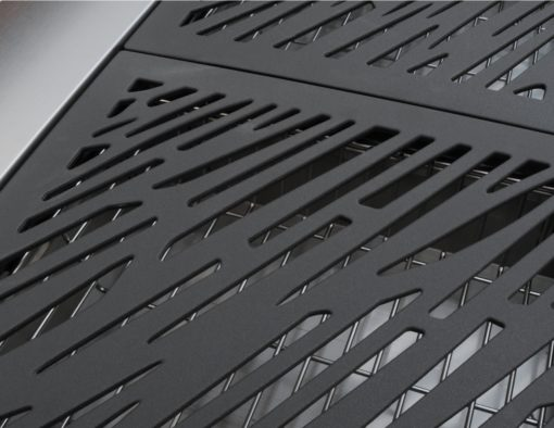 Sleek Cantilever Top Gas & Charcoal BBQ Grill grill plate black