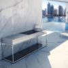 Sleek Adon Kitchen Island Gas & Charcoal BBQ Grill