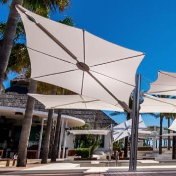 modern umbrella multi 4 cantilever 316 360 4 quatro contract hotel country club design