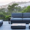 Ari 2-seater sofa modern platform sofa luxury outdoor design sunbrella modular outdoor patio furniture hampton california