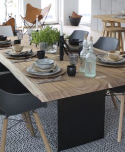 edge plank dining table