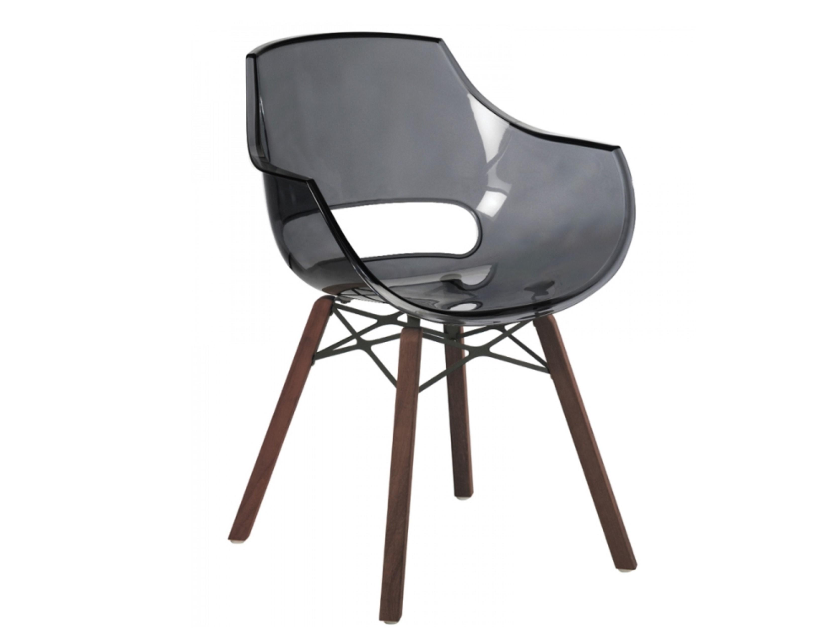 Austin Injection Mould Polypropylene Transparent Ghost Chair Grey Plastic  Teak Iroko Oak Wood Dowel Leg Like