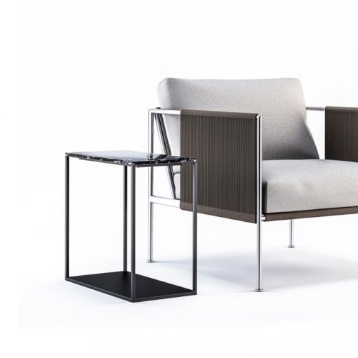 Garden Ease marble side table modern outdoor furniture sideboard new york miami florida east hampton european design Black