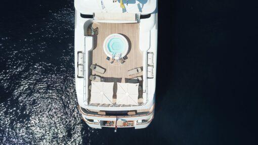 Hudson Yacht Duo Umbrella Luxury Outdoor Design Marine Grade Furniture 2 Canopies Single Pole High End