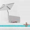 Robotic Umbrella Shade Bluetooth Music Modern Luxury Aitomatic Security Camera WiFi Hotspot Entertainment System