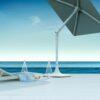 SMART HOME TECHNOLOGY SOLAR ROBOTIC UMBRELLA HUB WIFI BLUETOOTH SPEAKER CHAISE