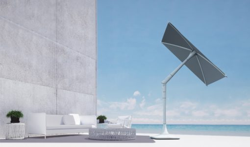 SMART HOME TECHNOLOGY SOLAR ROBOTIC UMBRELLA HUB WIFI BLUETOOTH SPEAKER SEATING LOUNGE