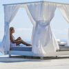 Ari daybed modular platform with curtains