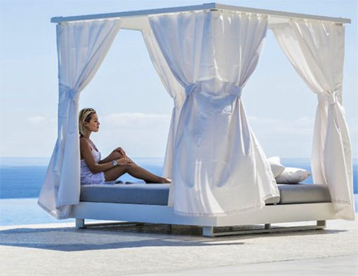 ari daybed modular platform with curtains luxury hotel contract furniture