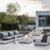 ari modern luxury platform sofa modular sectional elements contract hotel outdoor pool furniture white teak