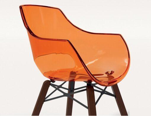 austin orange transparent dowel leg iroko teak oak leg modern urban design beach