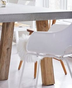 Austin injection mould polycarbonate clear ghose chair teak iroko oak wood dowel leg like vitra eames daw herman miller
