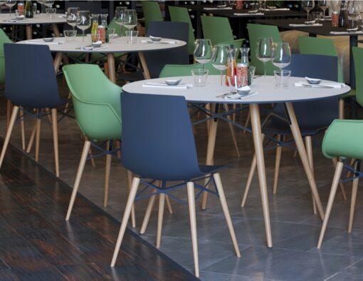 Auteur Dowel Leg Molded Chair Transparent Matte or Shiny