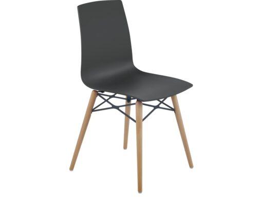 Auteur Dowel Leg Molded Chair Transparent Matte Shiny