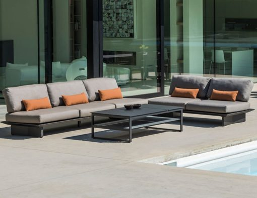 bonn modern black platform sofa elements multi position back adjust urban outdoor design living hotel contract