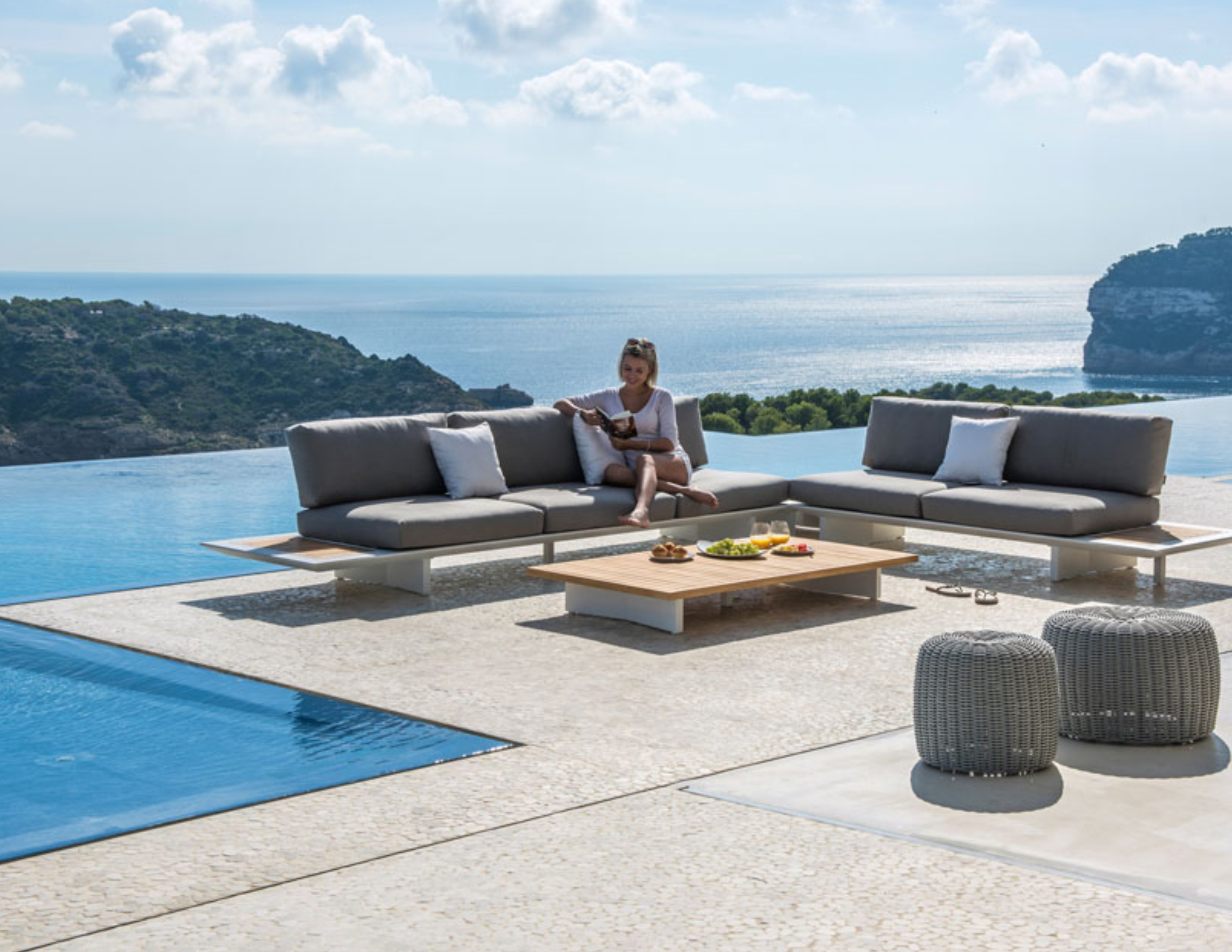 Bonn Modular Sectional Sofa Removable Backrest Metro Couture Outdoor
