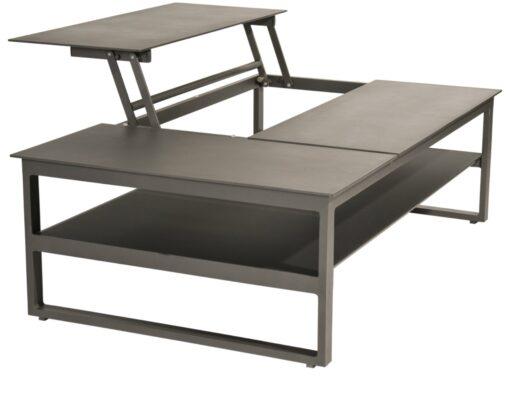 bonn pop up tray coffee table multi-function luxury outdoor living black white urban modern farmhouse