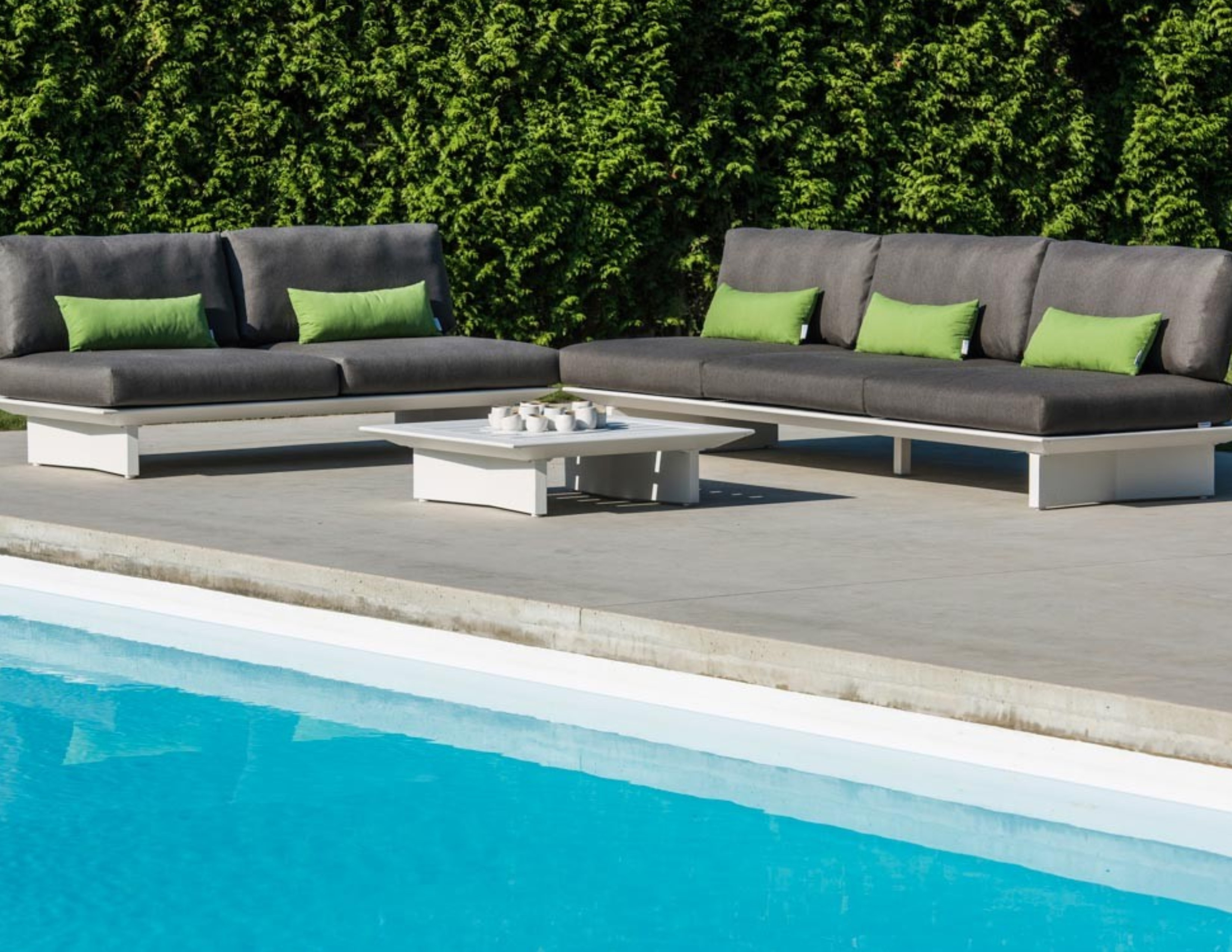 Bonn Sectional Sofa Removable Backrest Urban Couture Outdoor