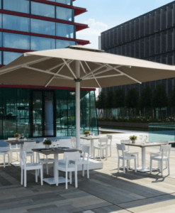 Adonis Luxury Shade Commercial Hospitality Control Remote up to 15ft Square Rectangular Custom order Resorts Mexico Caribbean California Country Clubs aluminum Sunbrella Restaurants Hotels Pool