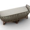 Ballet Teak 2 Seater Sofa Loveseat Strap Rope Luxury Restaurant Hotels Modern Mood Outdoor Indoor Contract