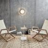 Dvelas Cunningham club chair modern marine grade plywood residential indoor outdoor luxury design hotels resort spas teak furniture