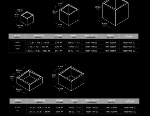 Planter Cube Minimalist Design Multiple Sizes