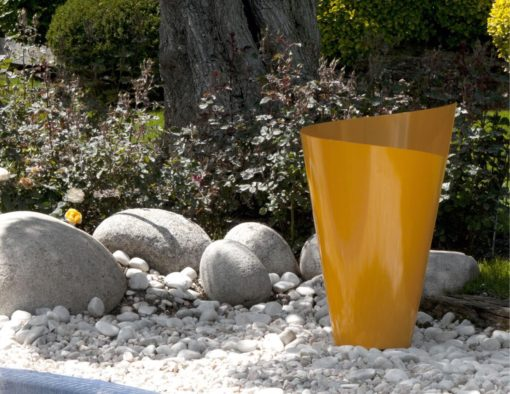 Planter Nautilus Luxury Stainless Steel Custom RAL Colors garden sculpture contract hospitality