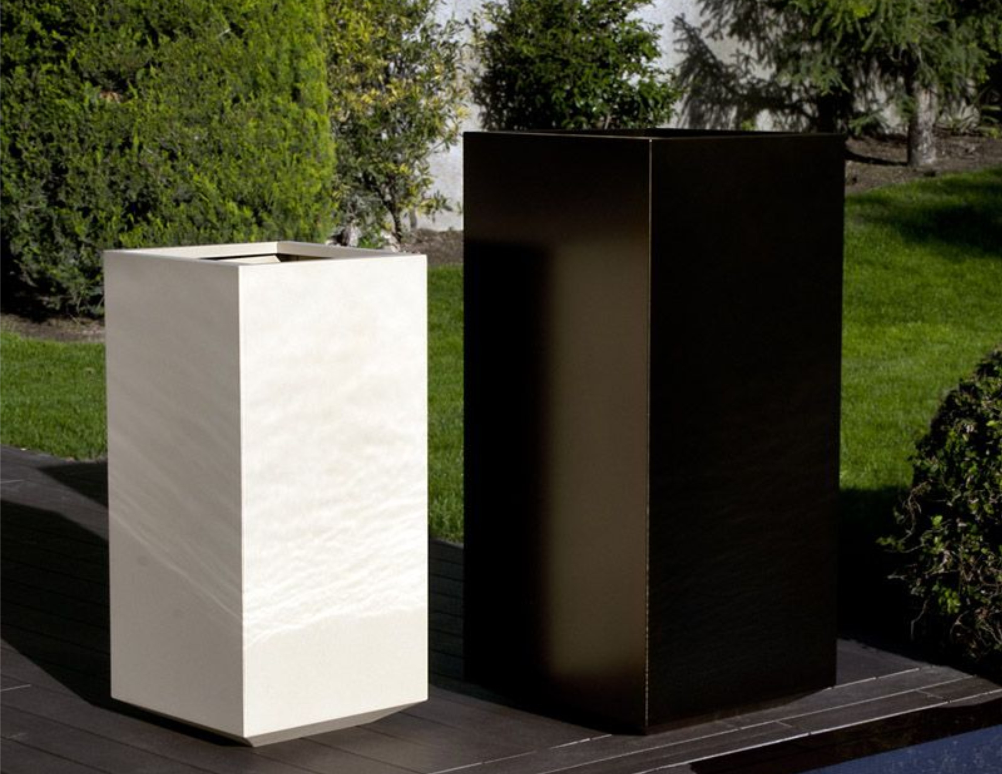 Tall Stainless Steel Planters Custom Colors Couture Outdoor