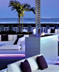 Air Platform Modular Sectional Sofa LED lights