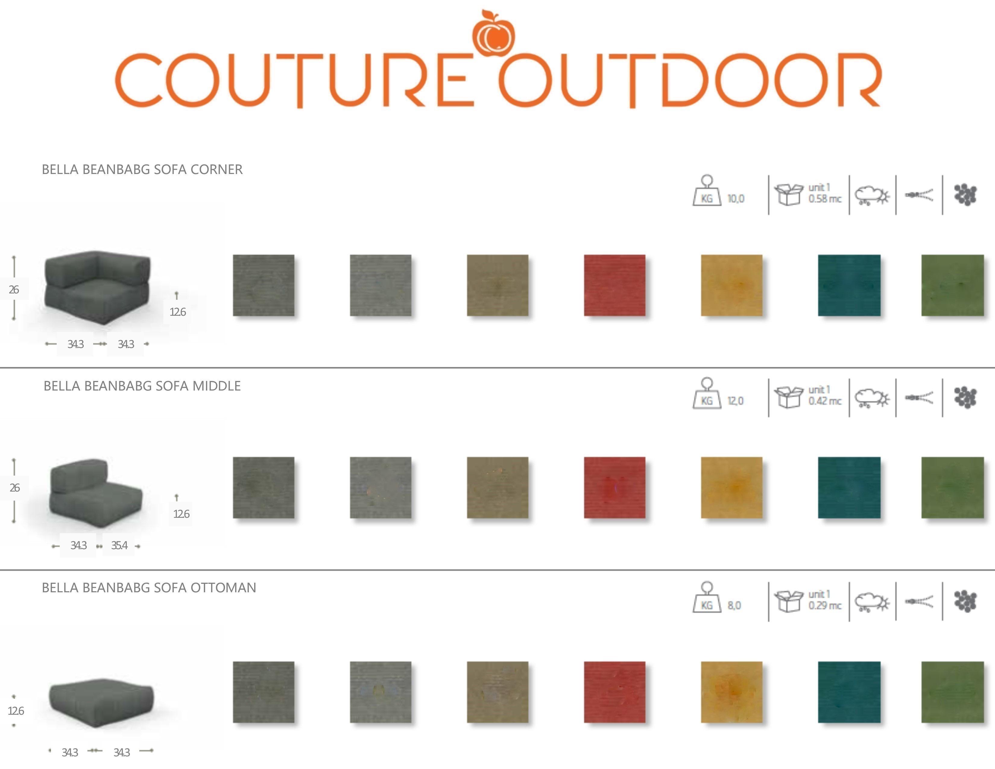 Bean Bag Collection Modular Sectional Sofa Tao Couture