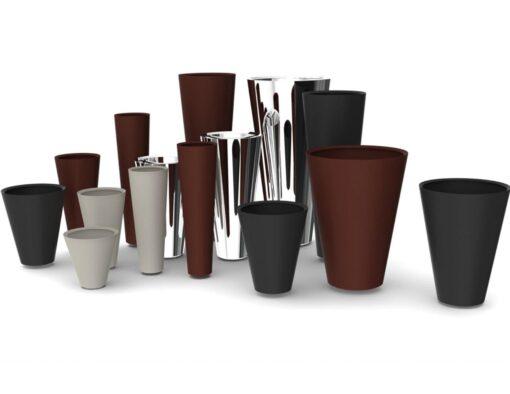 Cone Custom Stainless Steel Planters
